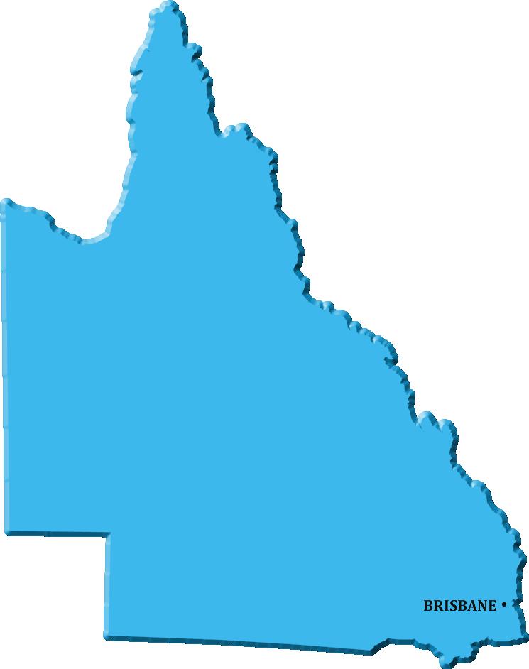 map of queensland